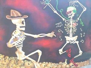 Tradicional Comparsa del Barrio de Jalatlaco. La muerte baila al son que le toquen...